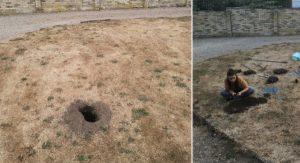 Angličan sa rozhodol rozkopať dieru, ktorá sa nachádzala na jeho dvore