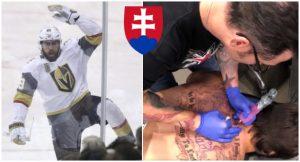 Americký hokejista si na chrbát nechal vytetovať slovenský dvojkríž