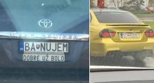 Autá s tými najvtipnejšími ŠPZ, aké môžeme na slovenských cestách vidieť