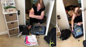 Študentka objavila vo svojom šatníku muža, ktorý si obliekal jej oblečenie. Ukrýval sa tam celý týždeň